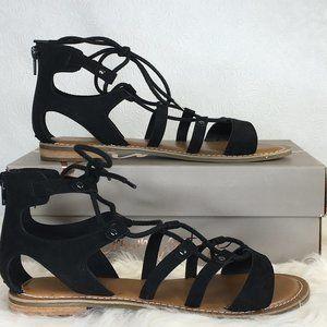 NIB Crown Vintage Regina Sandal Black Size 8M